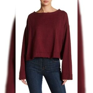 10102 Free People Walking In Hueco Sweater Top M